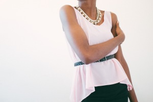 begin:pink chiffon top