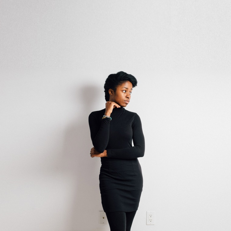 Black pencil skirt-Begin