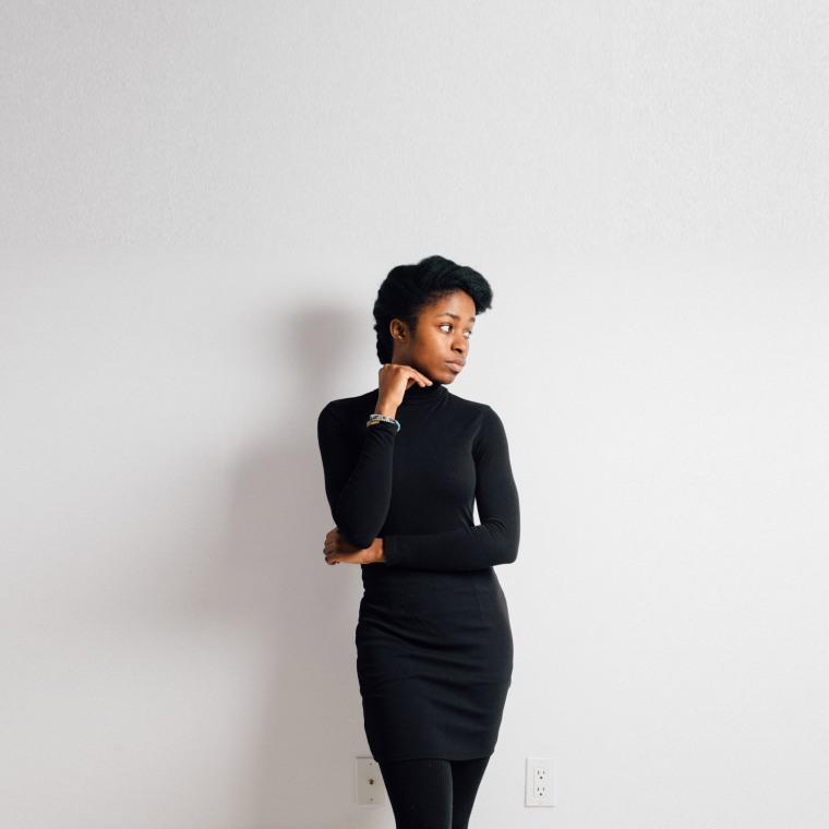 Black pencil skirt-Begin
